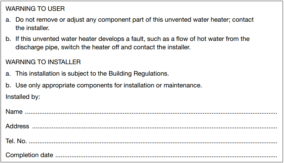 Section G3 Hot water supply and systems